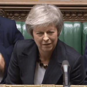 May in parliament
