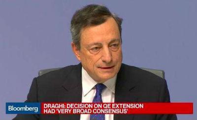 Euro lager na ECB besluit om minder, langer op te blijven kopen