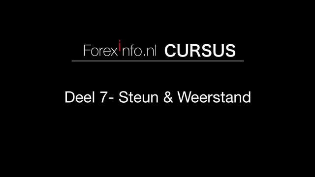 Forex Cursus Deel 7 - Steun & Weerstand